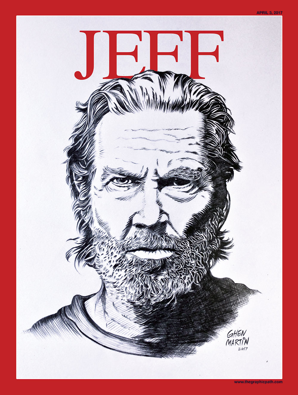 Jeff Bridges Cover Portrait by Jose Martin