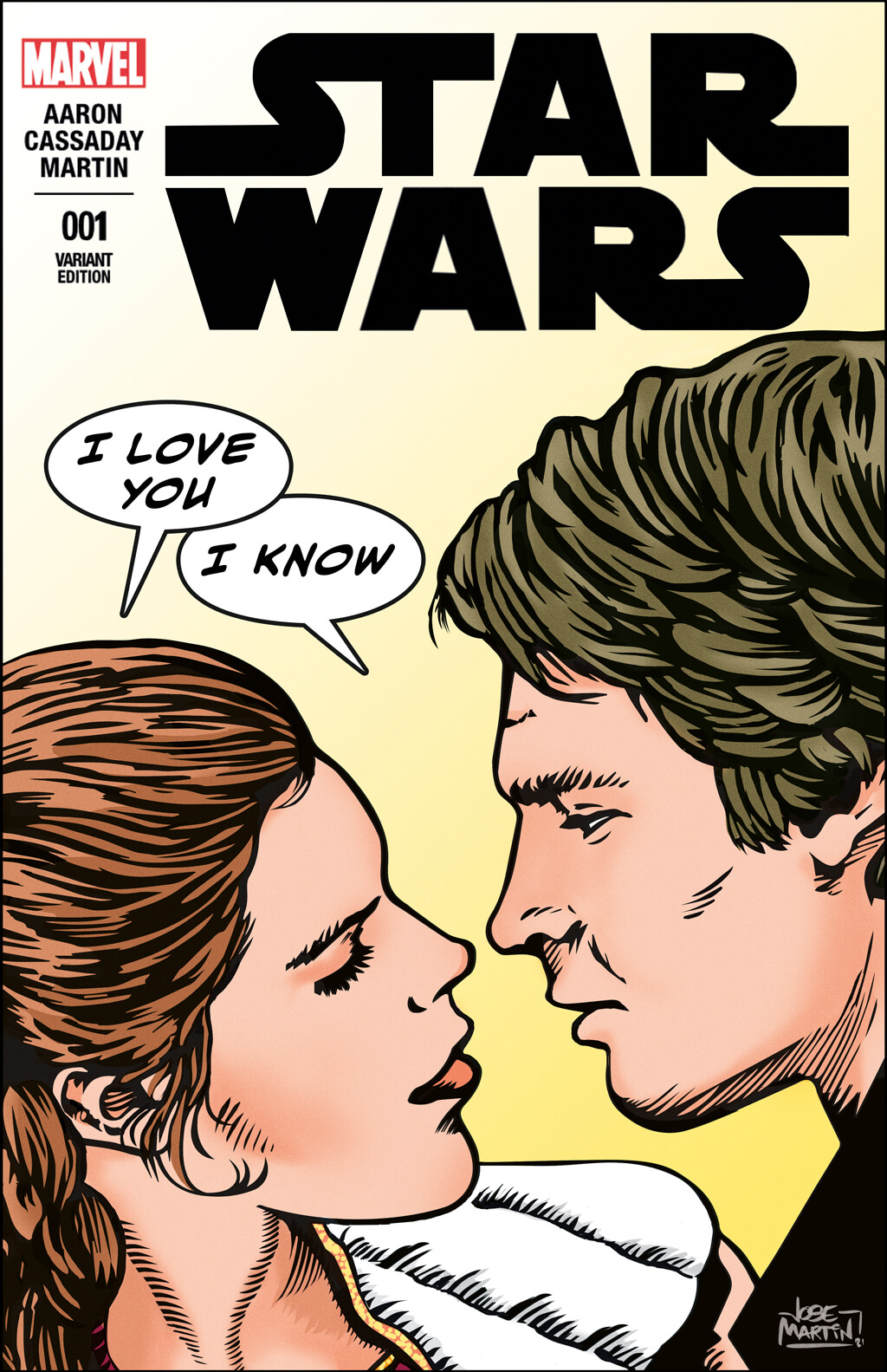 Star Wars, Princess Leia and Han Solo bespoke comic cover commission